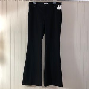 CALVIN KLEIN Black Wide Leg Trousers Soft Sz 8